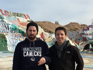 My boys at Salvation Mountain